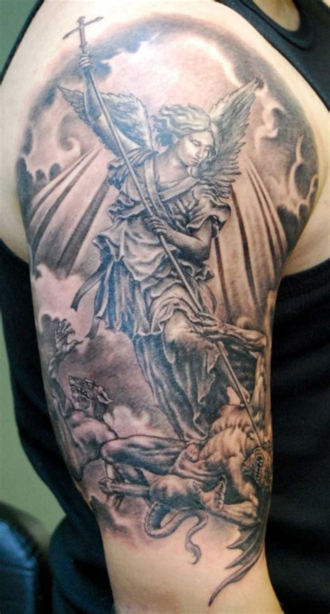 archangel michael tattoos arch st michael tattoohttp tattoopics org arch