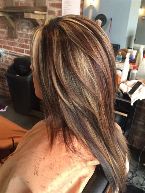 highlighted hair with brown underneath layered pictures red highlights ideas for blonde brown and black hair