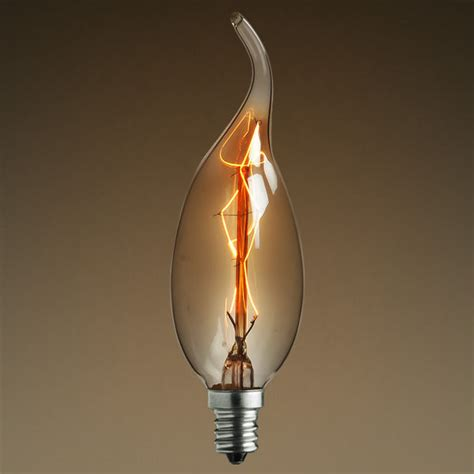 antique light bulb golden smoke flame 12 5 watt