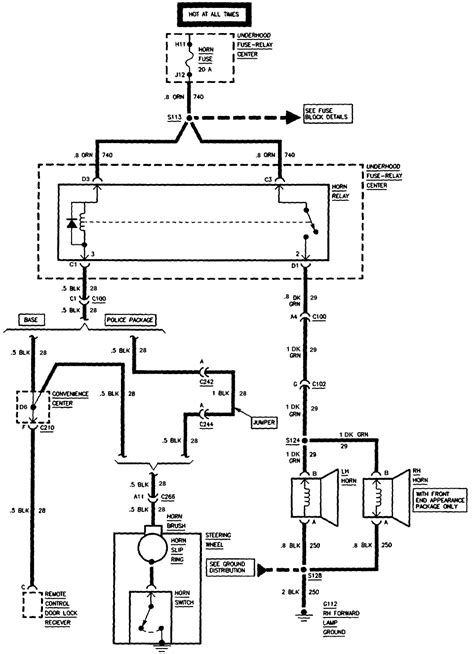 horn wiring diagram 2000 chevy 2500 get free image about