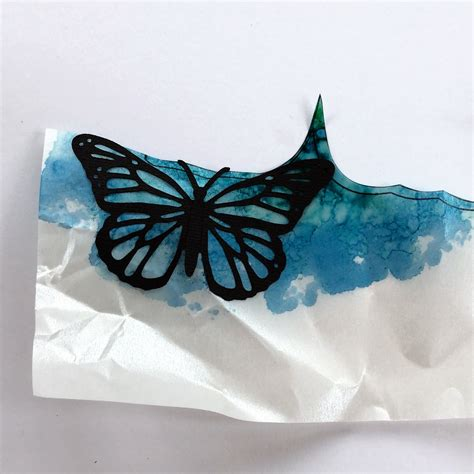 stained glass butterfly l crafting quine alcohol ink and vellum butterfly card