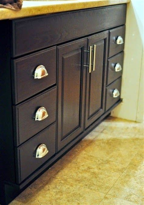 staining bathroom cabinets staining oak cabinets an espresso color diy tutorial