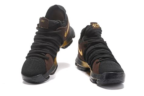 kd nike shoes for 2017 cheap nike kd 10 black gold basketball shoes for sale
