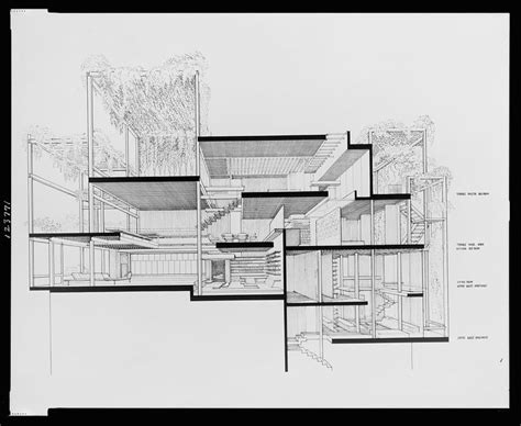 section perspective drawing a selection of paul rudolph s perspective sections