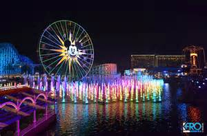 california adventure world of color a world of color