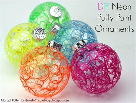 diy ornaments paint ilovetocreate diy neon paint ornaments