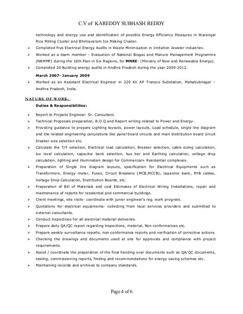 Electrical Engineering Freshers Resume Sle by Electrical Engineer Resume Resume Templates Apamdns
