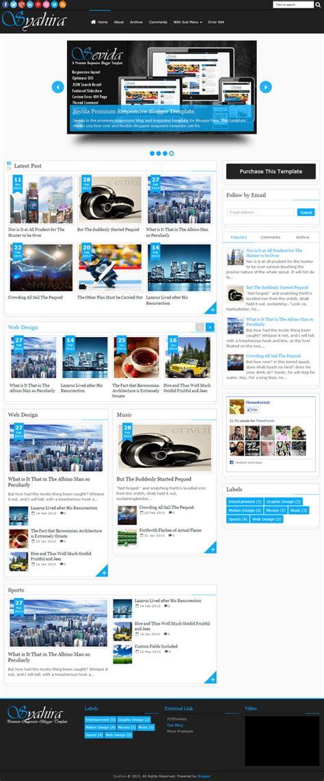 syahira responsive premium blogger template blogger