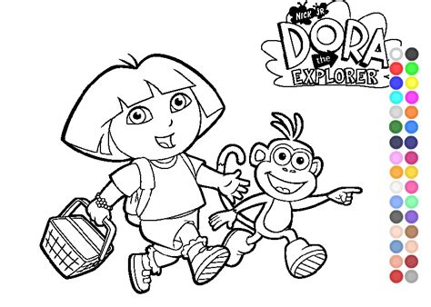 dora explorer coloring pages games dora the explorer games dora coloring pages dora