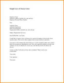 Absence Format Letter 2 Indefinite Leave Of Absence Sle Letter Farmer Resume