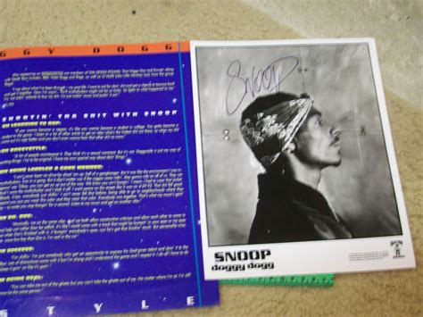 Who Is Signed To Row Records Snoop Dogg 1993 Row Records Press Kit With Photo And Bio Signed Autograph