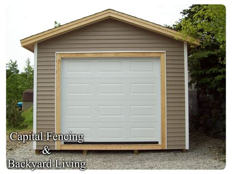 Overhead Door For Shed Shed S Capital Fencing And Backyard Living
