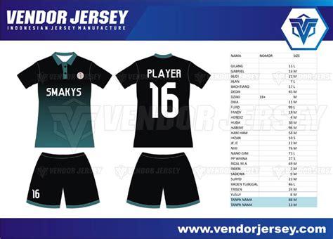 jersey futsal desain depan belakang kerah pembuatan jersey futsal printing kombinasi sablon polyflex