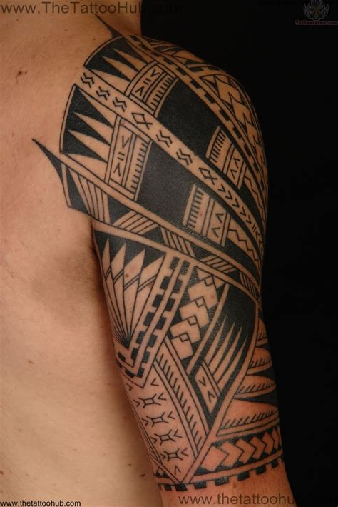 tribal quarter sleeve tattoos tribal tattoos and designs page 564