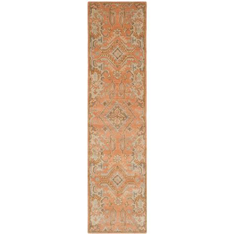 safavieh wyndham terracotta 2 ft 3 in x 11 ft rug