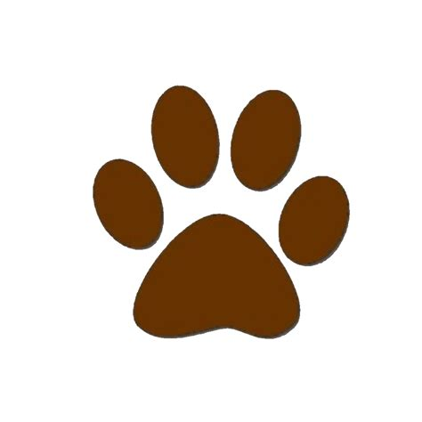 puppy prints brown paw print clipart best
