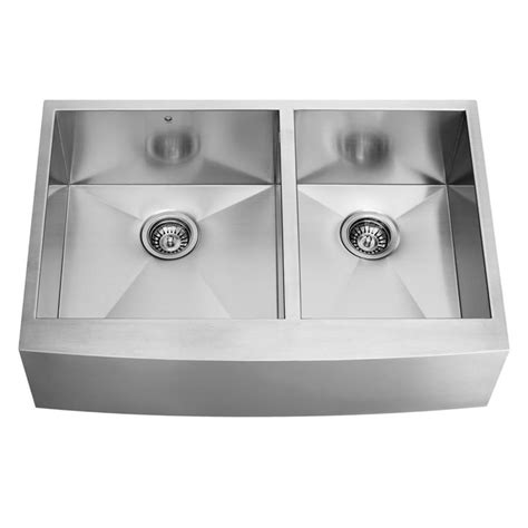 36 X 22 Kitchen Sink Shop Vigo 36 0 In X 22 25 In Premium Satin Basin
