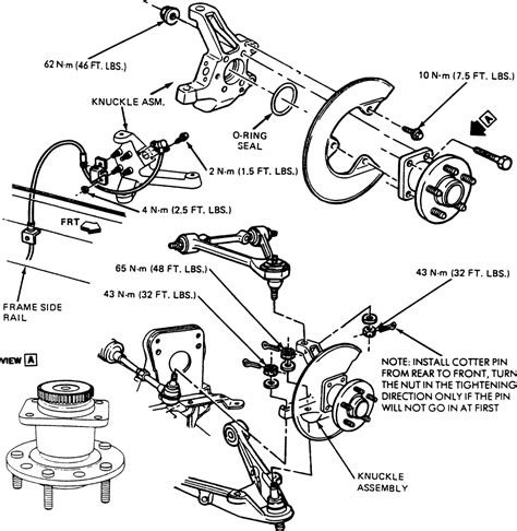 1996 plymouth neon rear wheel bearing removal repair guides front suspension knuckle and spindle