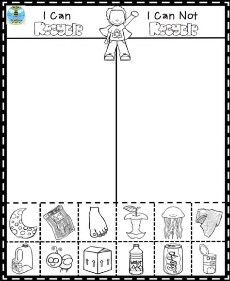 Recycling Worksheets by Recycling Worksheets For Kindergarten 1000 Images About