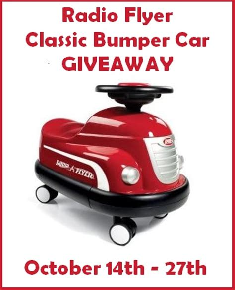 Radio Flyer Giveaway - ended radio flyer classic bumper car giveaway baby coupons and stuff