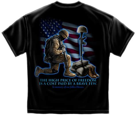 coolest cross army flag and soldiers cross black t shirt