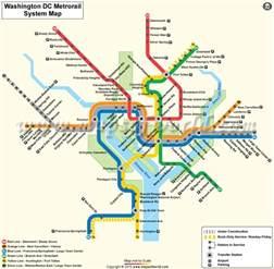 Dc Metro System Map by Buy Washington Dc Metro Rail Map