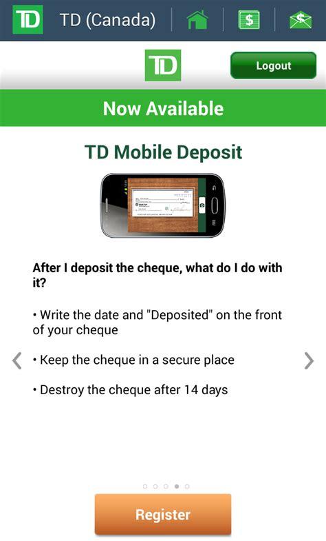 td bank check deposit app td ask us