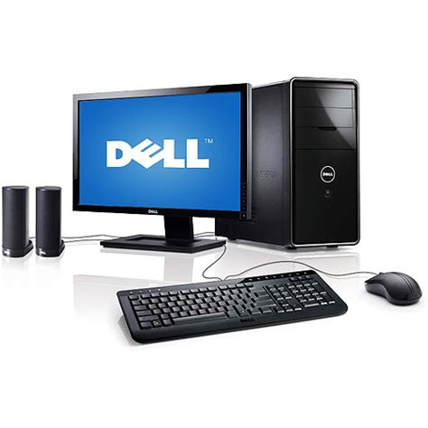 Dell Desk Top Computers Dell Inspiron 560 Desktop Pc With 20 Quot Monitor Walmart