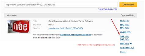 format file video youtube cara mudah terbaru download video di youtube tanpa