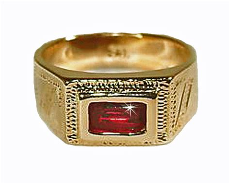 baby boys 18k skillus gold ring with cz lead and