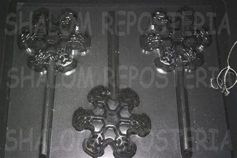moldes para paletas de chocolate en los angeles molde paletas de chocolate 3 copos de nieve grandes