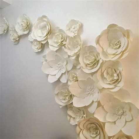 Paper Flower Wall Decor by Paper Peony Atmosphere Designs Large Paper Flower Walls