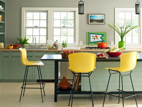 colorful kitchen design 25 colorful kitchens hgtv