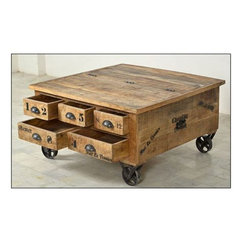 Rustic Storage Coffee Table Vintage Wood Rustic Storage Trunk Coffee Table Industrial Chocolate