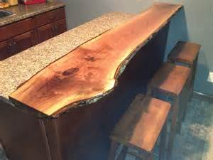 Bar Top Edge by Live Edge Black Walnut Bar Top Kitchen