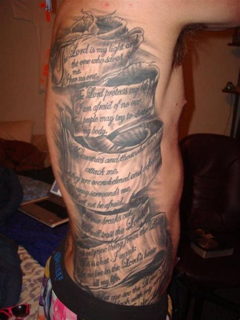 side piece tattoos for men amazing side with bible scripture tattoos