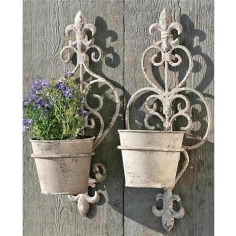 Wall Flower Planters by Set Of 2 Wall Flower Pot Holder Garden Decoration Plant