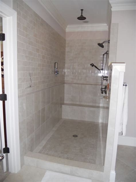 Showers Without Glass Doors Modern And Classic Walk In Shower Without Doors Homesfeed