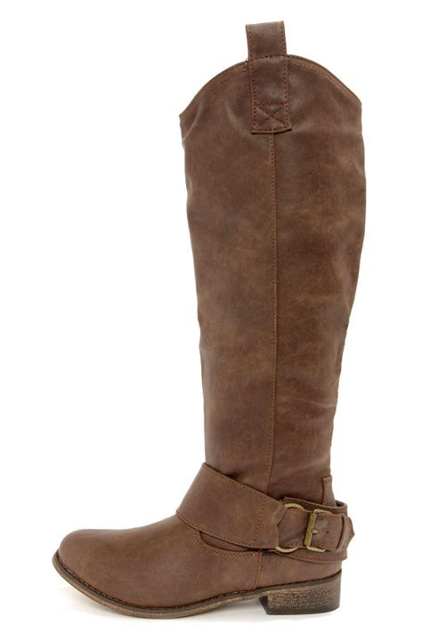 light brown riding boots cute brown boots riding boots vegan boots 46 00