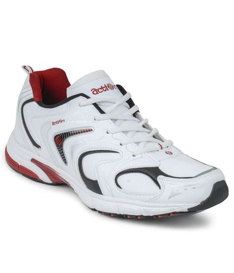 white leather sports shoes white synthetic leather sport shoes price in india