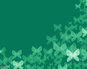 plantilla powerpoint verde con mariposas plantillas