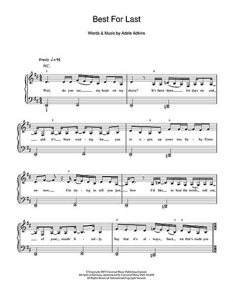 guitar chords for adele best for last adele best for last sheet music