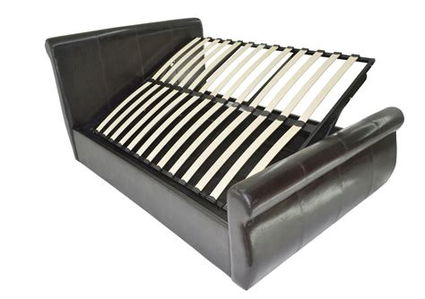 ottoman bed leather heavy duty sleigh leather ottoman bed reinforced beds