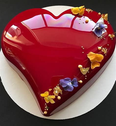 mirror glaze cake glanez cakes entremets plated desserts pinterest