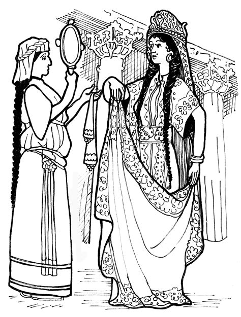 coloring pages esther queen bible queen esther learn to coloring