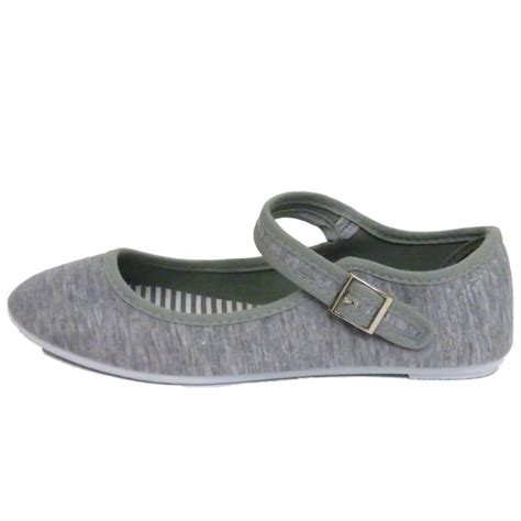 womens grey flat shoes womens grey buckle flat ballet ballerina summer