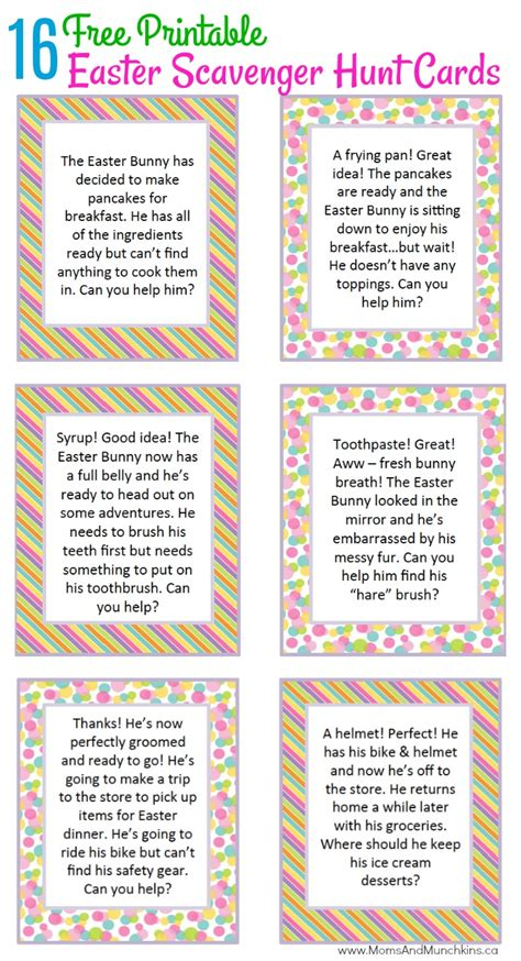 easter scavenger hunt easter scavenger hunt ideas moms munchkins