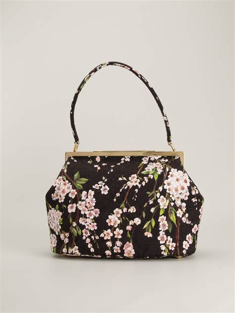 Dg Dolce And Gabbana Ocelot Print Tote by Dolce Gabbana Floral Print Tote In Floral Black Lyst