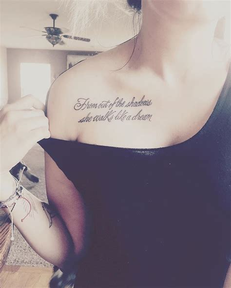 hot tattoo quotes 31 collarbone quote tattoos that are as meaningful as they