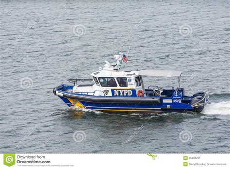 the dream boat new york times nypd boat in harbor editorial photo image 35494251